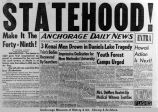 Copy of newspaper headlines, June 30, 1958.