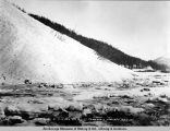 Snow slide at mile 83 1/2. Nov. 12-[19]17. Turnagain Arm Div[ision]. A.E.C. R[ailwa]y.
