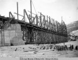 Tanana River bridge looking east. Jan. 5-1923.