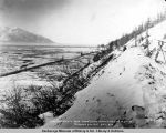 Looking north from snow slide mountains bet[ween] m[iles] 83-84. Turnagain Arm Div[ision]. A.E.C....
