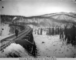 Riley Creek bridge. Mile 247 U.S. R[ail]road. Feb. 6-1922.