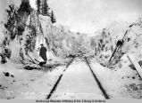 Nov. 29-1918. Snowslide at mile 72 - Seward Div[ision] Gov't R[ail]road.