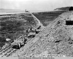 View of coal dock site. Anchorage, Alaska. June 12th, 1918.
