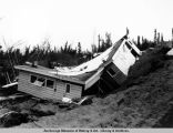 Turnagain home wrecked in earthquake.