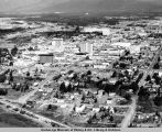 Aerial view of downtown Anchorage.