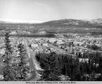 Aerial view of Whitehorse, Yukon Territory.