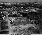 Aerial view of ball park, Anchorage.