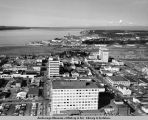 Aerial view of downtown Anchorage looking north.