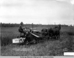 G. H. Saindon's harvester and binder, Matanuska Branch A.E.C. R[ailwa]y.