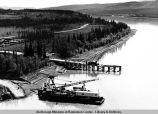 Yukon River bridge constr[uction].