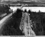 Yukon river carries Dalton Hiway [sic] and pipeline.