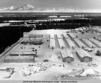 Glenn Allen [sic] camp with Wrangell Mountains in back.