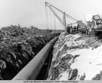 Laying pipe in the refrigerated area between Hogan's [sic] Hill and Glenn Allen [sic] road...