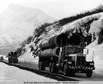 Part of the Al Renk truck convoy on 7 Mile Hill at Thompson Pass.