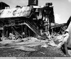 Fire damage at Pump 8.