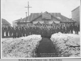 Grand Lodge officers and charter members of Anchorage Lodge 1351, B.P.O. Elks, instituted March...
