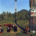 Tlingit Indian Dance at Saxman totem park.