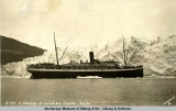 A Steamer at Columbia Glacier, Alaska