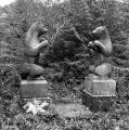 Twin bears on grave of Indian, Pennock Island.