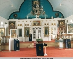 Interior of church, St. George, St. George Island, Alaska, 1986.
