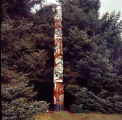 Totem at the Sitka Alaska Totem Park.