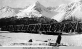 Resurrection River Bridge, Gov[ernmen]t R[ailwa]y near Seward, Alaska.