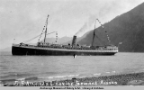 S.S. Alameda leaving Seward, Alaska.