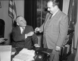 Gov[ernor] Signing airport bill with Frank Barr, senator from 4th Div[ision], Reg[ular] Session...