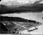 Birds eye view of Seward, Alaska, June 1906.