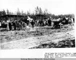 DH-4s under C[a]pt[ain] St. Clair Streett [sic], Army Air Service en route [sic] Alaska, at...
