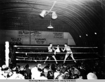 USO sponsored boxing match with Joe E. Brown.