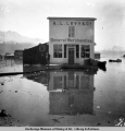 A. L. Levy & Co. building, Valdez, surrounded by high tide flood water.