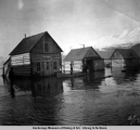 High tide flood, Valdez, 1898 or 1899.