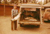 Milt Hoffman with king salmon.