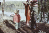 Keith and Tim Redington with a King Salmon.