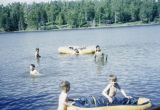 Swimming in the lake at the Redington Flathorn homestead.