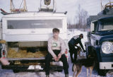 Tim Redington at a junior dog sled race.