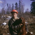 Raymie Redington and Irish setter.