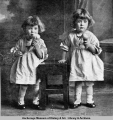 Mary, Helen, first twins born in Anchorage, Alaska.