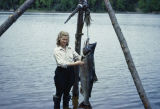 Vi Redington with a king salmon.
