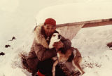 Isaac Okleasik with dog.