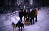 Raymie Redington and Kathy Deweese getting married on the Iditarod Trail.