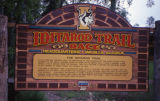 Iditarod Trail Sled Dog Race sign at the Iditarod headquarters in Wasilla.