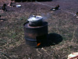 Dog food cooker.