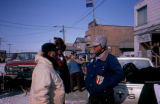 Joe Redington Jr. and Rick Swenson at the beginning or end of the 1983 All Alaska Sweepstakes in...