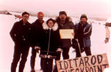 Iditarod Checkpoint on the 1974 Iditarod Trail Sled Dog Race.