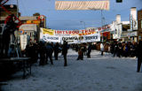 Start of the Iditarod Trail Sled Dog Race on Fourth Avenue in downtown Anchorage.