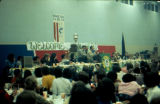 Awards banquet in Nome for the 1977 Iditarod Trail Sled Dog Race.