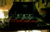 Three-burner Coleman stove developed by Joe Redington Sr.