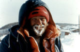Ron Aldrich in Ruby during the Iditarod Trail Sled Dog Race.